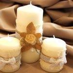 Вариант декорирования свечей