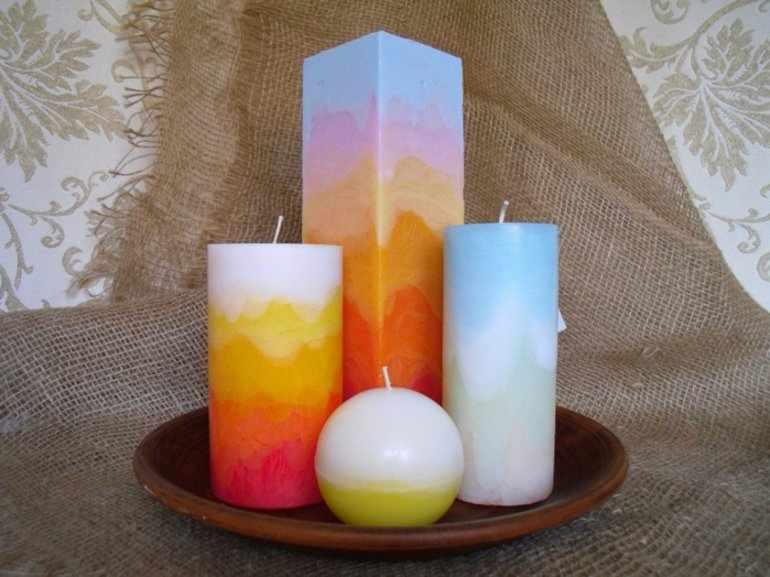 Свечи из старой свечи