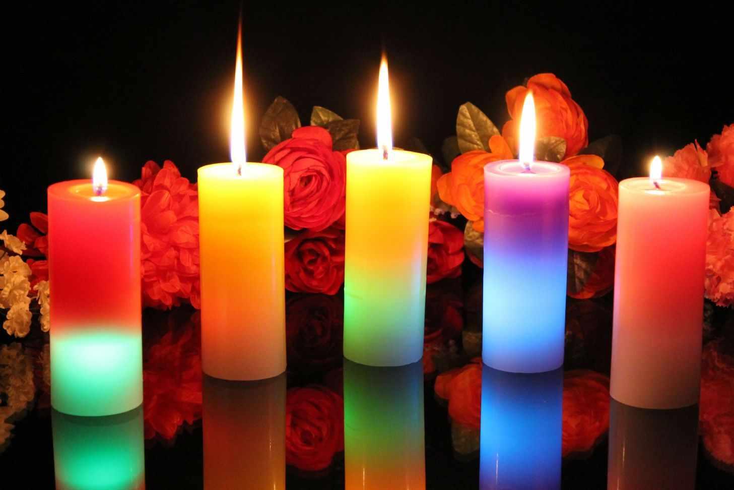 Свечи с добавлением краски
