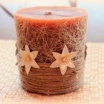 Оранжевая свеча