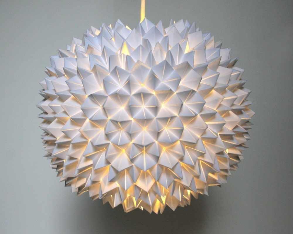 Шарообразный бумажный светильник