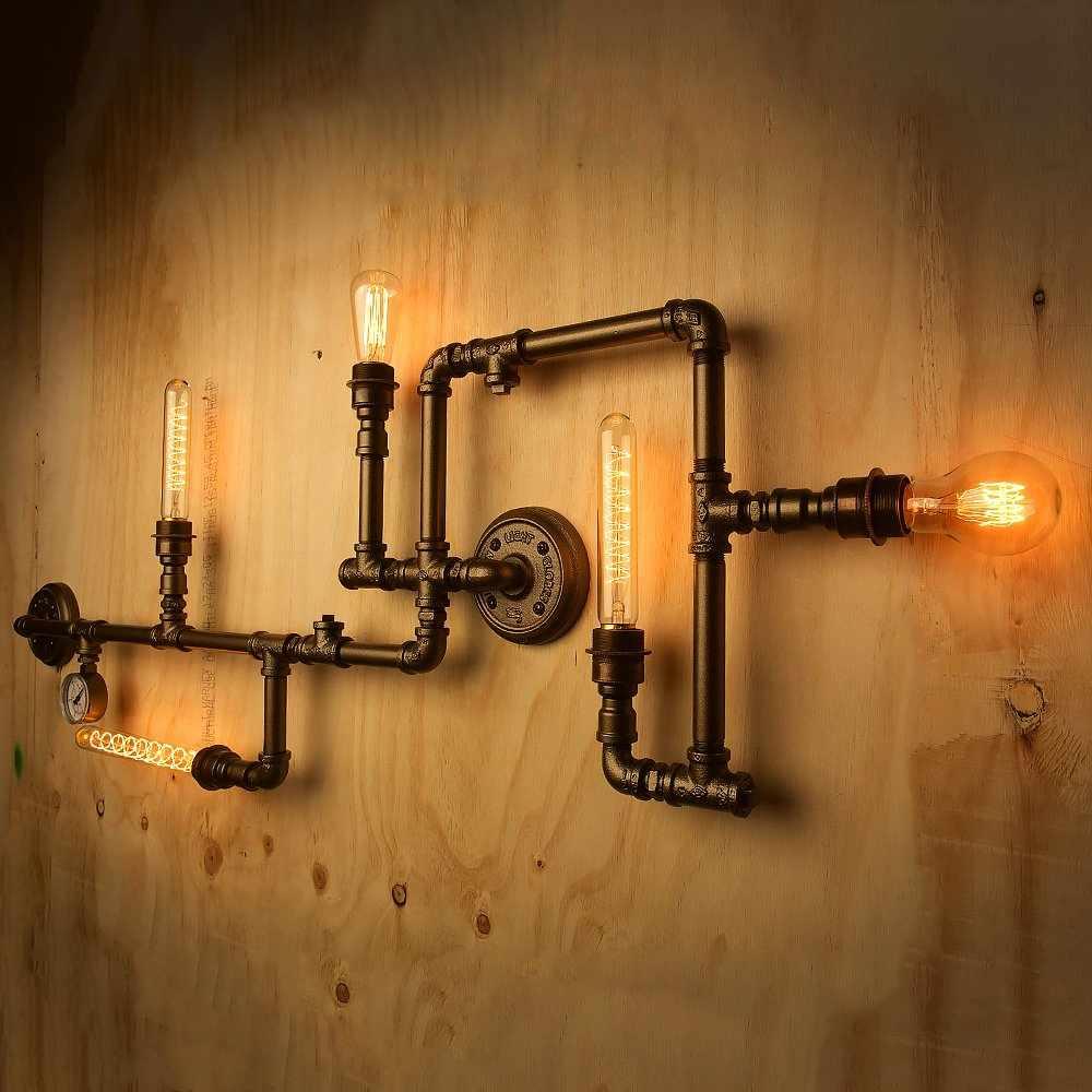 Светильник из металлических труб