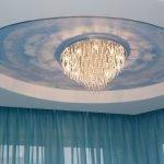 Красивая люстра на потолке
