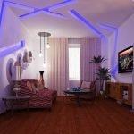 Светодиодная подсветка в интерьере комнаты