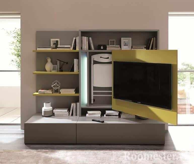 Выдвижной крепеж для телевизора в шкафу