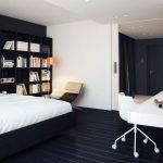 Черно-белая спальня