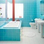 Сочетание теплых и холодных цветов в дизайне ванной комнаты