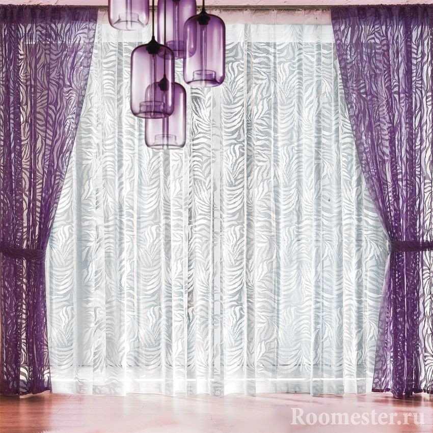Сочетание фиолетового и серого цветов