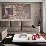 Оригинальная картина над диваном