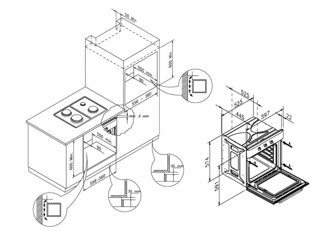 Правила установки газовой духовки с варочной поверхностью
