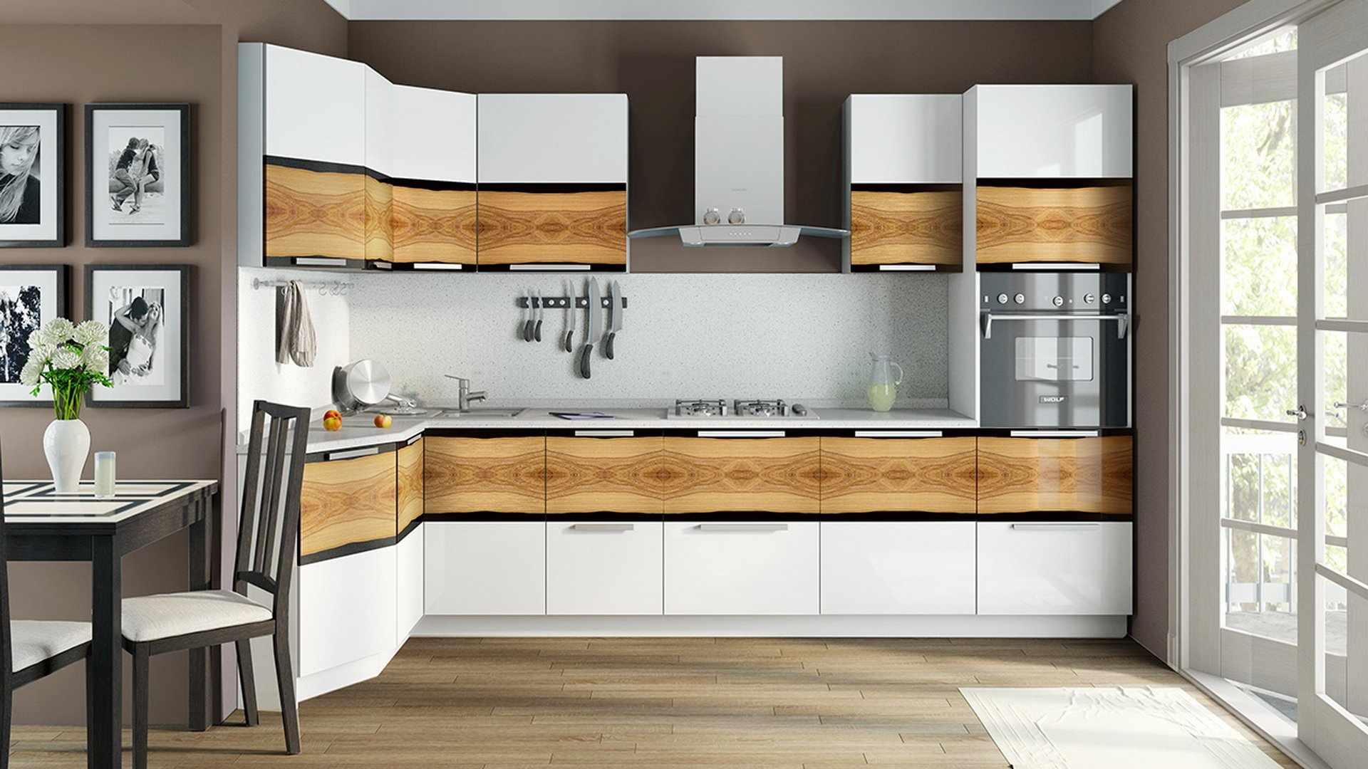 Интерьер с кухонным гарнитуром