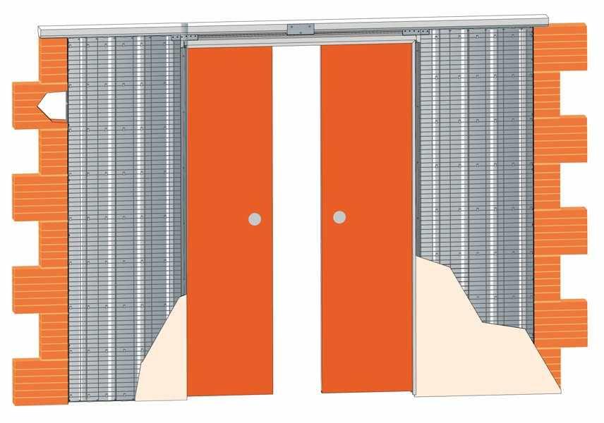 Раздвижная дверь с кассетной системой