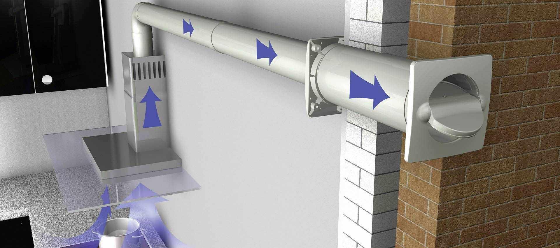Вывод воздуховода на улицу
