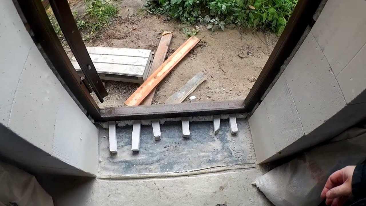 Установка железной двери в проем из газобетона