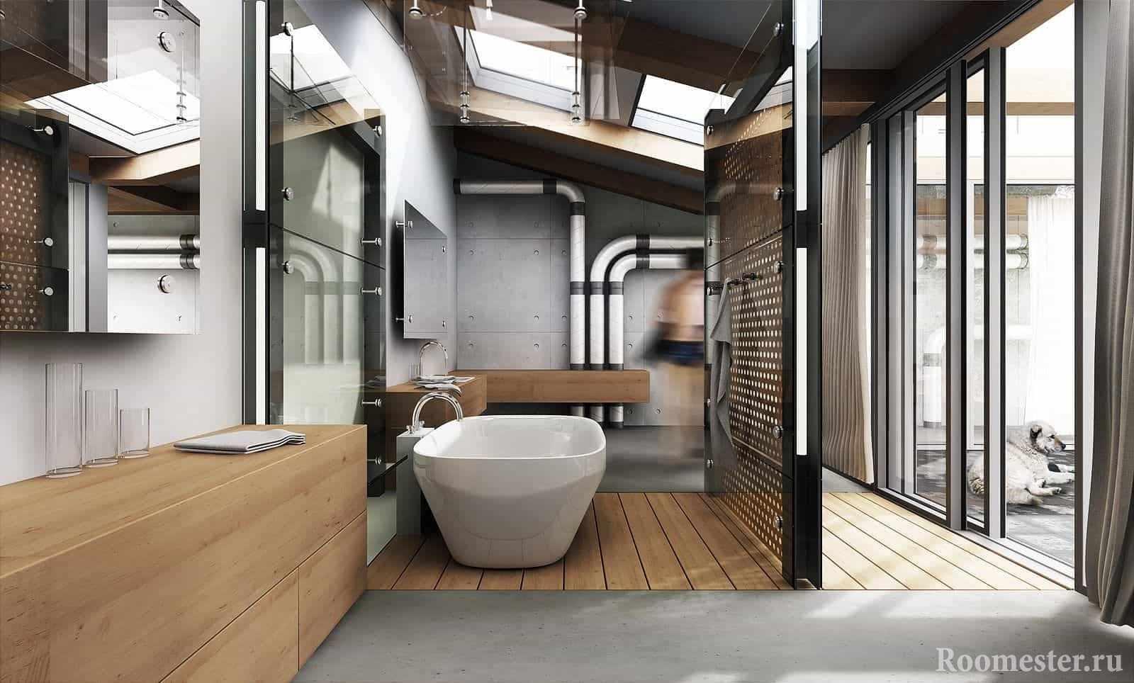 Стильная сантехника в ванной