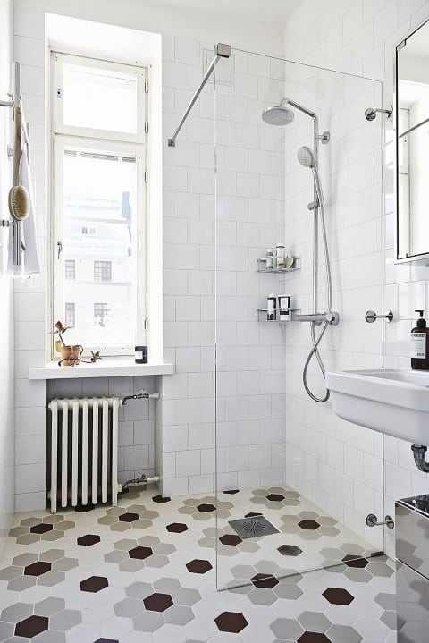 отделка стен и пола в ванной плиткой