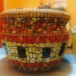 Отделка вазона мозаикой