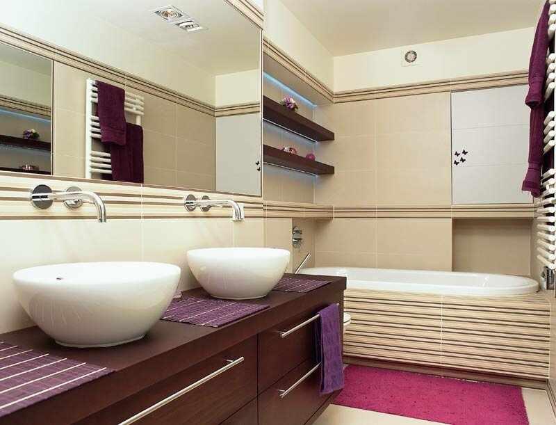 Ванная с вентиляцией прямоугольной конструкции
