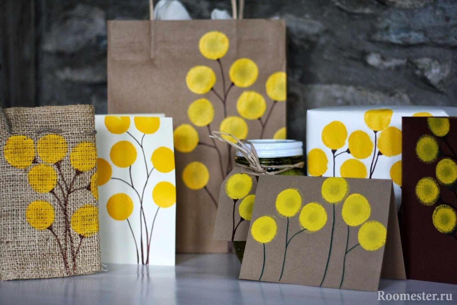 Декор конвертов, пакетов, банок