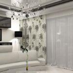 Серо-белая гостиная