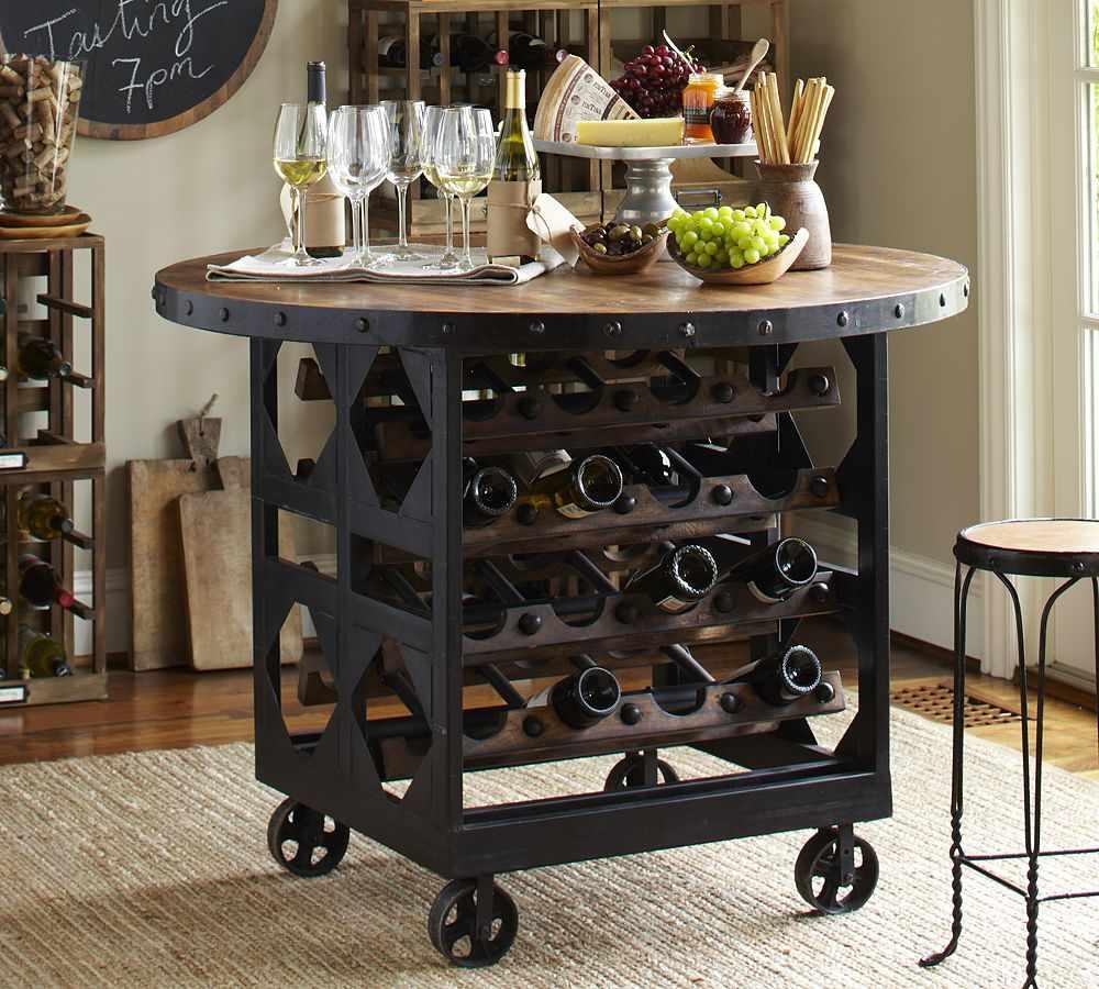 Столик с винной полкой