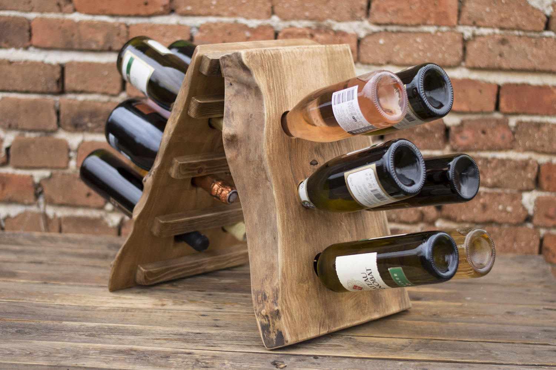 Оригинальная полка для вина