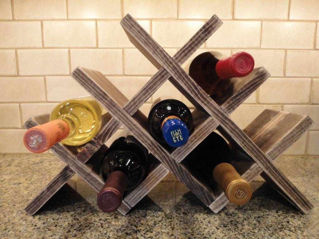 Диагональная полка для вина