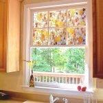 Декор окна на кухне