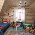 Блок-хаус в детской