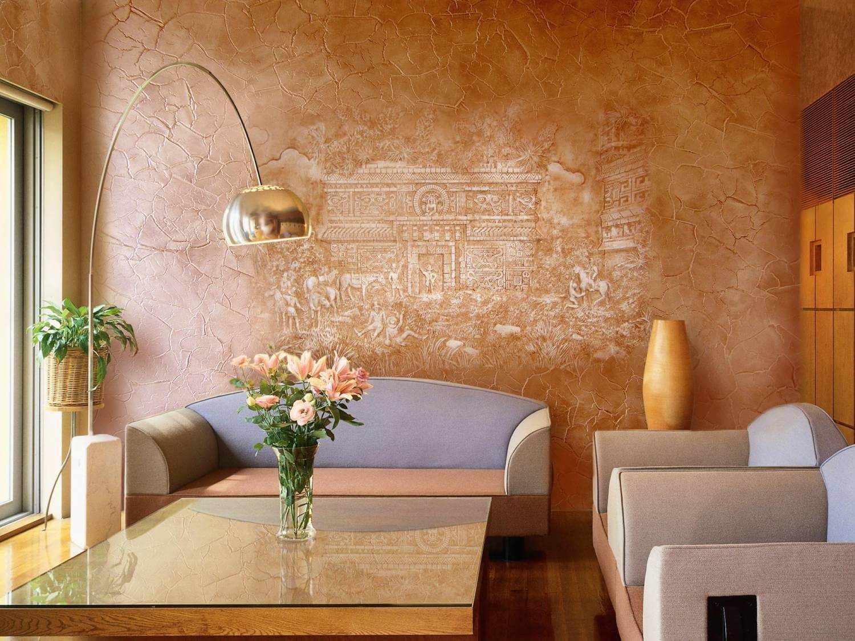 Декоративная шпатлевка на стене
