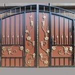 Виноградная лоза на воротах