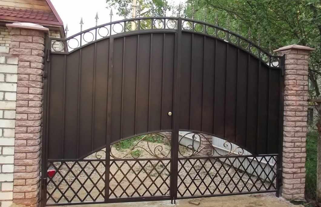 Ворота с калиткой своими руками