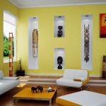 Африканский декор в гостиной