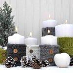 Шишки рядом со свечками