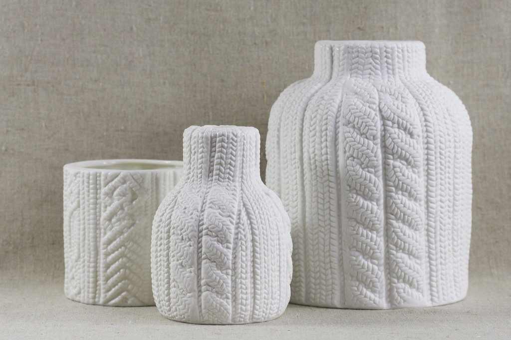 Вязанные чехлы для ваз и емкостей