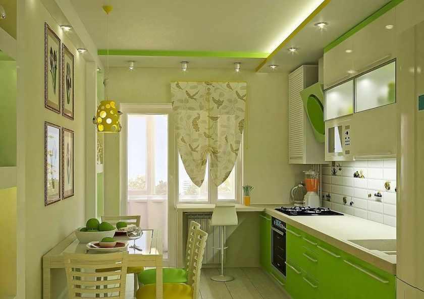 Применение зеленого цвета в интерьере кухни