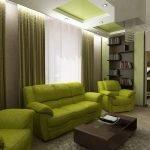 Зеленая мягкая мебель