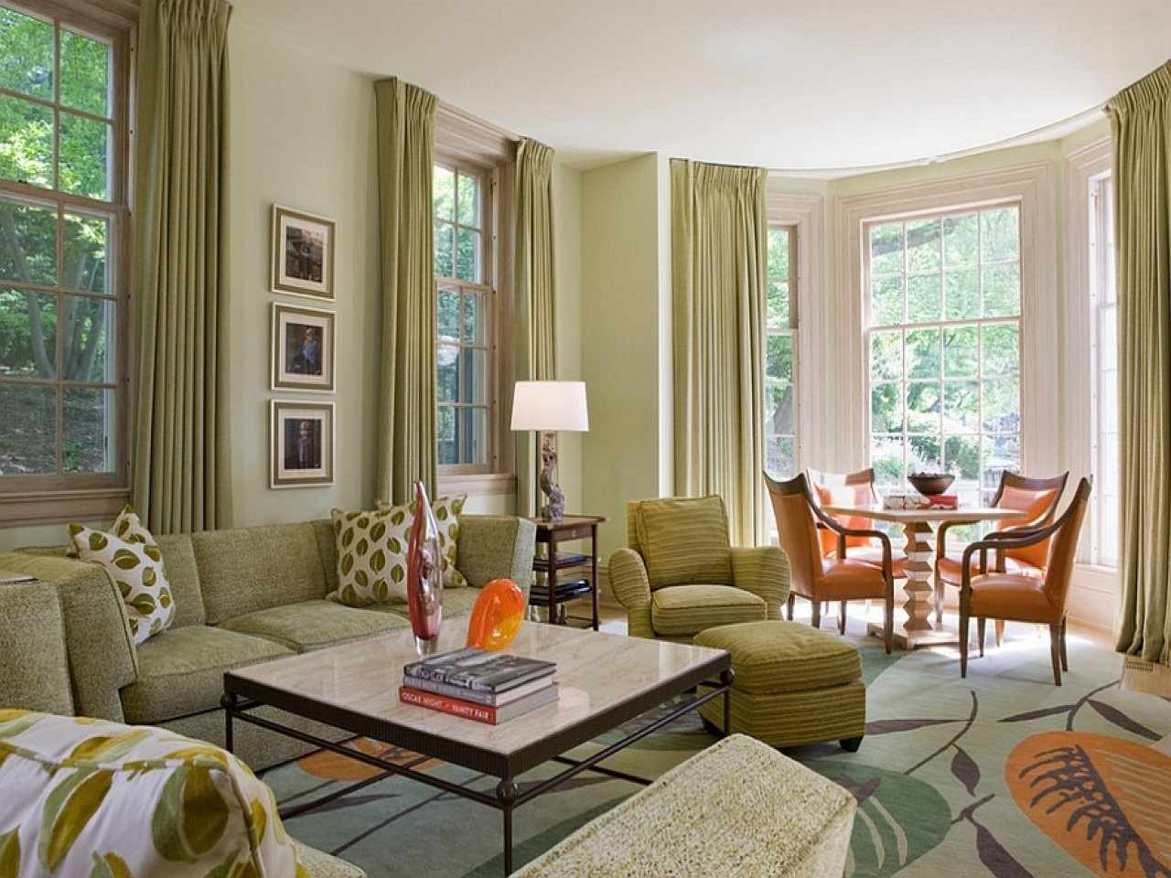 Бежевый и зеленый в интерьере квартиры