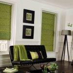 Коричнево-зеленый интерьер