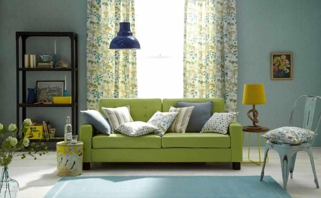 Зеленый цвет в интерьере и примеры сочетаний