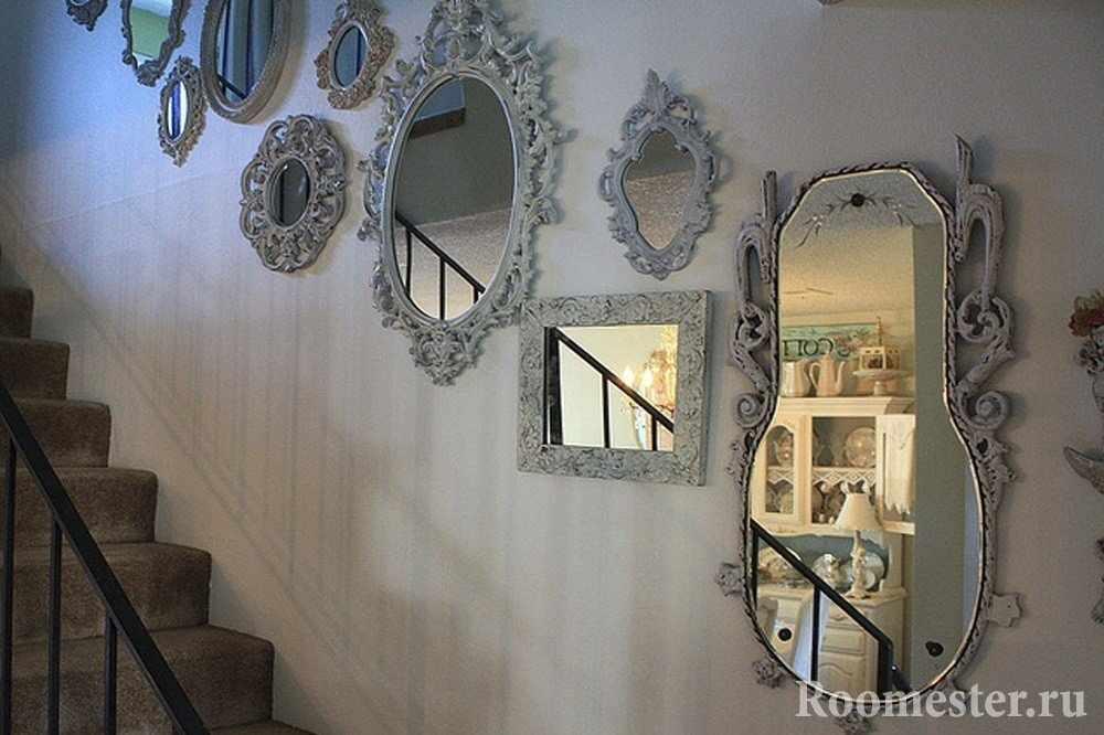 Зеркала на лестнице