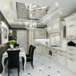 Кухня с шикарным интерьером
