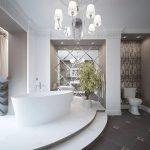 Комнатное деревце в ванной