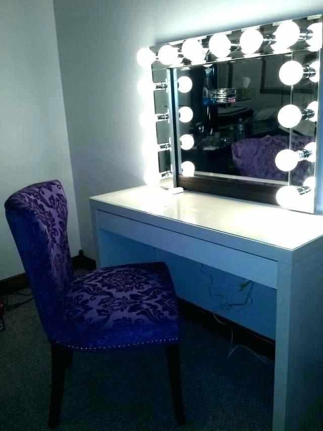 Зеркало с лампами своими руками