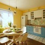 Бело-голубая мебель в интерьере