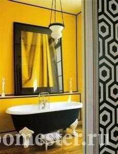 Желто-черная ванная