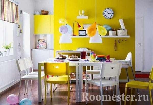 Столовая в желтом цвете
