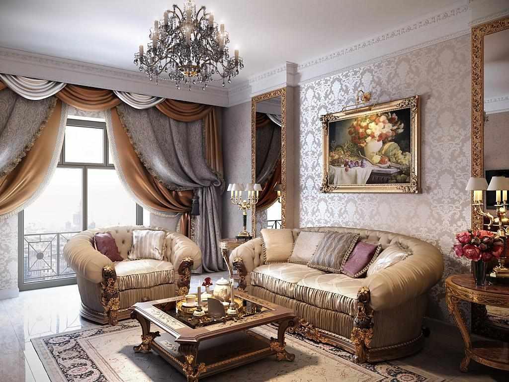 Картина в интерьере в классическом стиле