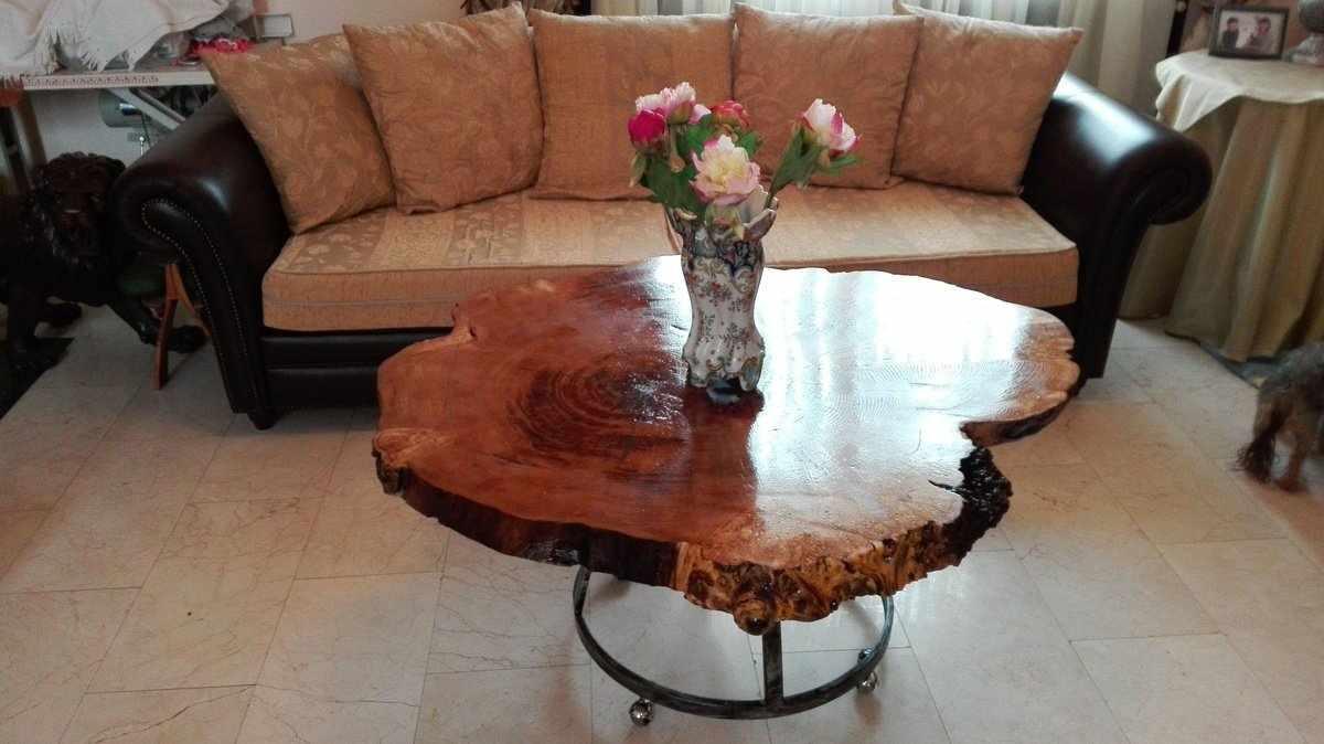 Кофейный столик из спила