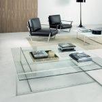 Квадратный стеклянный столик